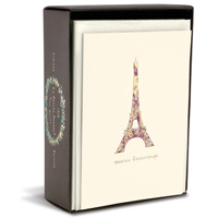 Eiffel Tower Limited Edition (10 cards/10 envelopes) Graphique de France Boxed Thank You Note Cards