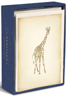 Heritage Giraffe (10 cards/10 envelopes) - Boxed Blank Note Cards