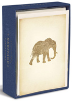 Heritage Elephant (10 cards/10 envelopes) - Boxed Blank Note Cards