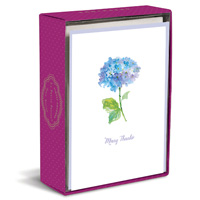 Simply Charmed Blue Hydrangea (10 cards/10 envelopes) Graphique de France Boxed Thank You Note Cards