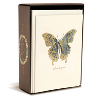 Butterfly Limited Edition (10 cards/10 envelopes) - Boxed Thank You Note Cards - FRONT: thank you