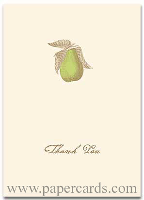 Perfect Pear (10 cards/10 envelopes) Graphique de France Boxed Thank You Cards - FRONT: Thank You  INSIDE: Blank Inside