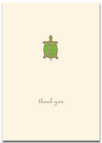 Turtle (10 cards/10 envelopes) Graphique de France Boxed Thank You Cards - FRONT: thank you  INSIDE: Blank Inside