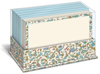 Florentine Blue (50 flat note cards/50 envelopes) - Boxed Blank Note Cards