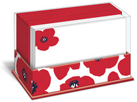 Poppy Punch (50 flat note cards/50 envelopes) - Boxed Blank Note Cards