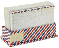 Airmail Striped (50 flat note cards/50 envelopes) - Boxed Blank Note Cards