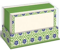 Nouveau Floral Green (50 flat note cards/50 envelopes) - Boxed Blank Note Cards