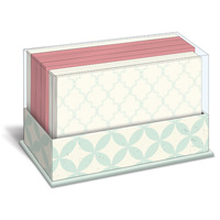 Blue Pattern (50 flat note cards/50 envelopes) - Boxed Blank Note Cards