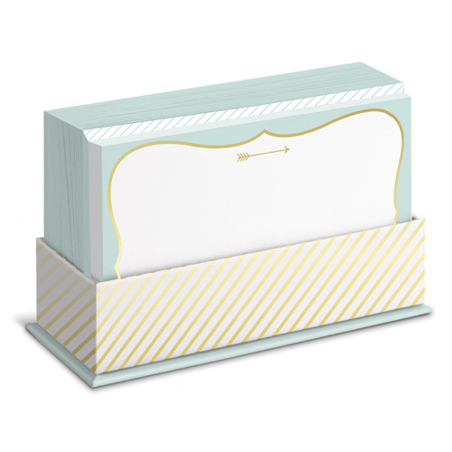 arrow box of 50 flat note cards - Note Cards
