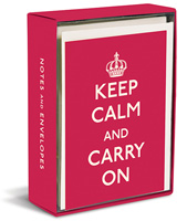 Keep Calm and Carry On (20 cards/20 envelopes) Graphique de France Boxed Thank You Cards