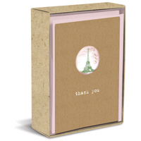 I Love Adventure Natural (10 cards/10 envelopes) Graphique de France Boxed Thank You Note Cards