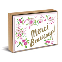 Sweet Floral Natural (10 cards/10 envelopes) Graphique de France Boxed Thank You Note Cards