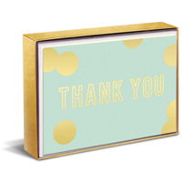 Blue and Gold Sweet Notes (10 cards/10 envelopes) Graphique de France Boxed Thank You Note Cards