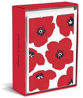 Poppy Punch (20 cards/20 envelopes) - Boxed Blank Note Cards