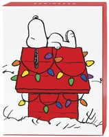 Snoopy on Dog House Petite Box of 20 Christmas Cards