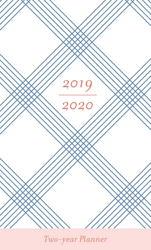 blue plaid 29 month 2 year 2019 2020 pocket calendar planner