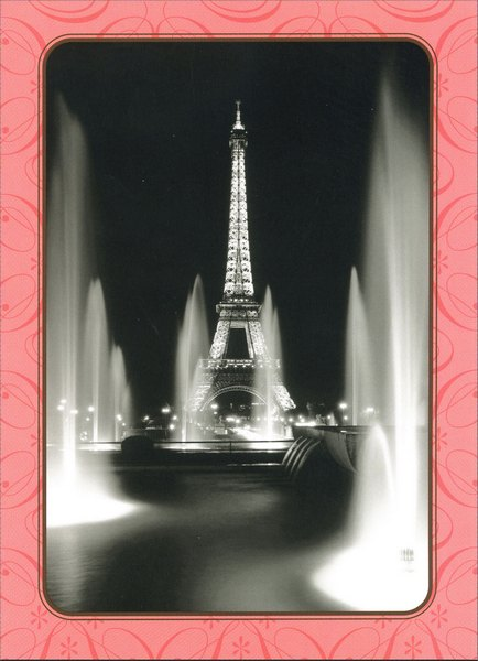 La Tour Eiffel, Champ De Mars (1 card/1 envelope) Blank Card - FRONT: No Text  INSIDE: Blank Inside