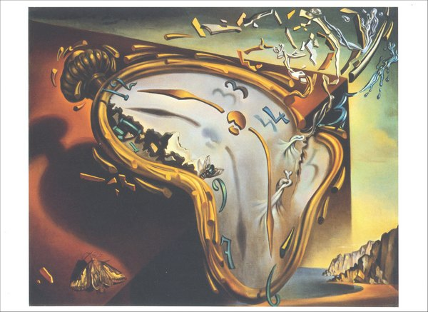 Soft Watch at the Moment of First Explosion (1 card/1 envelope) Salvador Dali Blank Card - FRONT: No Text  INSIDE: Blank Inside