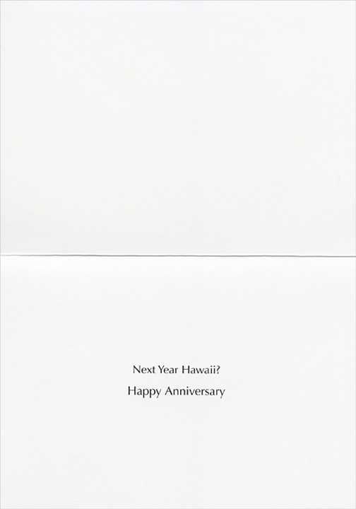 Side of the Road Picnic (1 card/1 envelope) Anniversary Card - FRONT: No Text  INSIDE: Next year, Hawaii?  Happy Anniversary