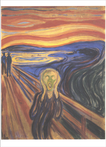 The Scream (1 card/1 envelope) Edvard Munch Blank Card - FRONT: No Text  INSIDE: Blank Inside