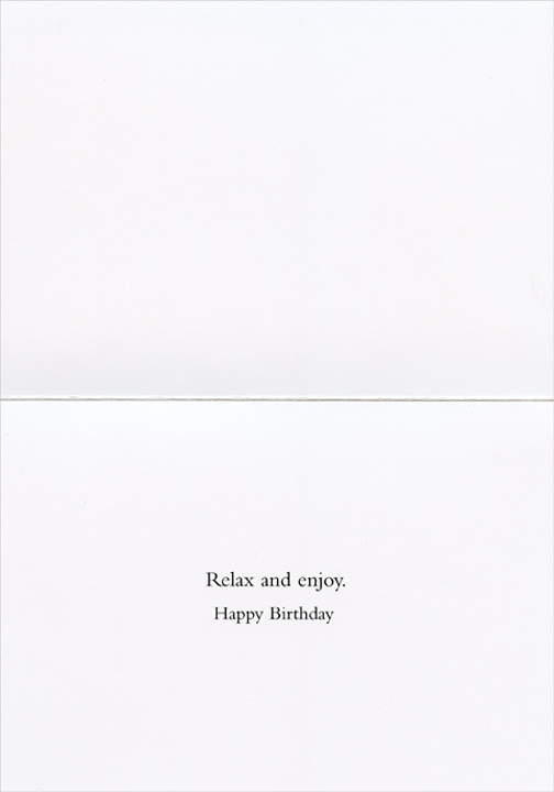 The Long Leg (1 card/1 envelope) Graphique de France Edward Hopper Birthday Card - FRONT: No Text  INSIDE: Relax and enjoy.  Happy Birthday