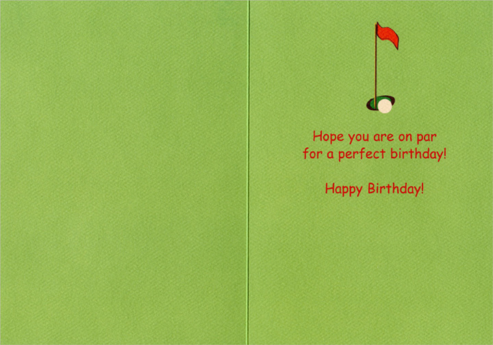Hole In One Tropical Birthday (1 card/1 envelope) - Birthday Card - FRONT: No Text  INSIDE: Hope you are on par for a perfect birthday!  Happy Birthday!