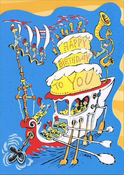 Happy Birthday To You Dr Suess Birthday Card by Graphique de France