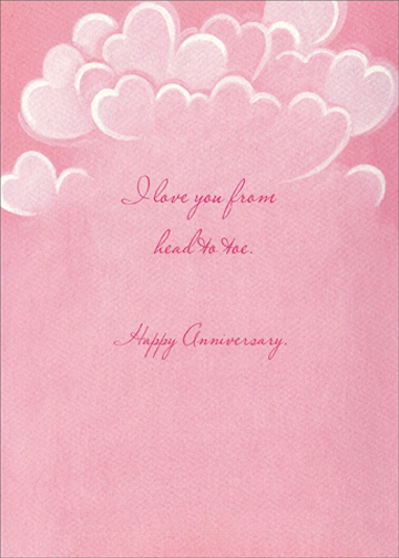 Steamy Shower (1 card/1 envelope) Graphique de France Anniversary Card - FRONT: No Text  INSIDE: I love you from head to toe.  Happy Anniversary.