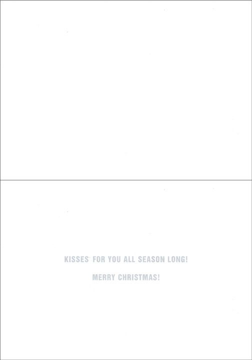 Hershey Kisses Santa (1 card/1 envelope) - Christmas Card - FRONT: Season's Greetings - HERSHEY'S KISSES  INSIDE: Kisses for you all season long! Merry Christmas!