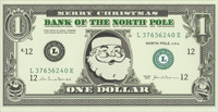 Santa Money Money Holder Christmas Card