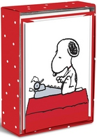 Snoopy Typewriter Box of 16 Blank Notecards