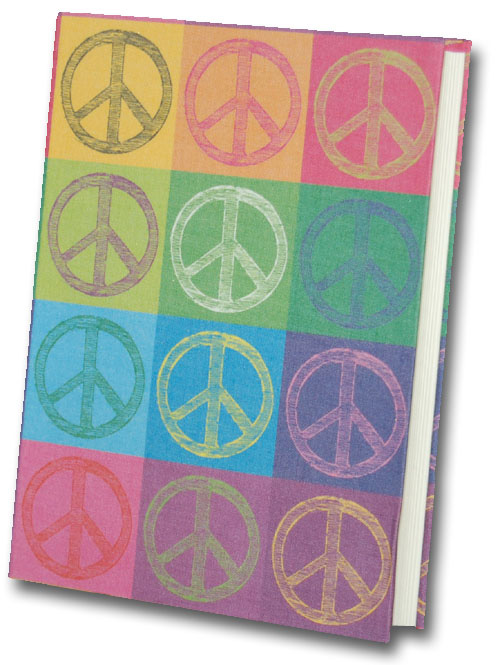 Peace Pop Art Graphique de France Linen Journal
