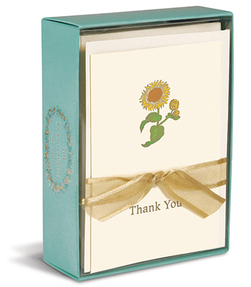 Sunflower (10 cards/10 envelopes) - Boxed Thank You Cards - FRONT: Thank You  INSIDE: Blank Inside