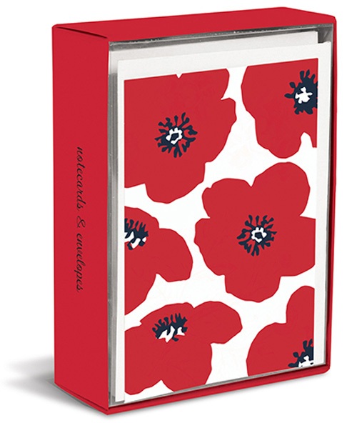 Poppy Punch (20 cards/20 envelopes) Graphique de France Boxed Blank Note Cards