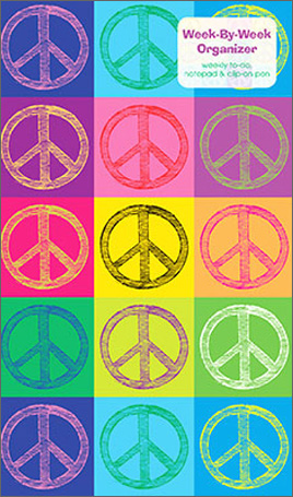 Peace Pop Art Graphique de France Week by Week Organizer