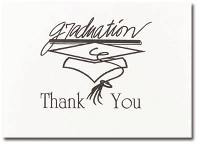 Black Graduation Box of 20 Thank You Cards
