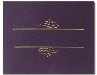 Value Certificate Cover - Plum (5 Pack)