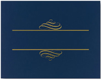 Value Certificate Cover - Navy (5 Pack)