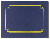 Linen Certificate Cover - Navy (3 Pack)