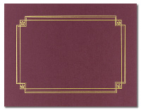 Linen Certificate Cover - Burgundy (3 Pack)