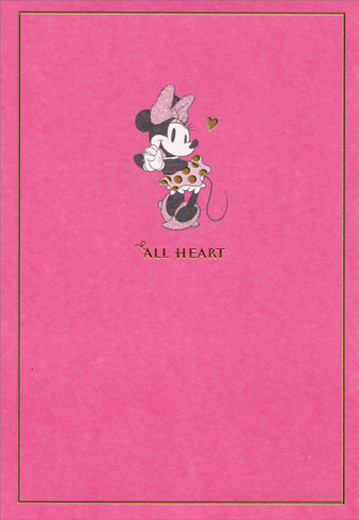 Minnie Mouse All Heart Disney Family Birthday Card For Her By Hallmark