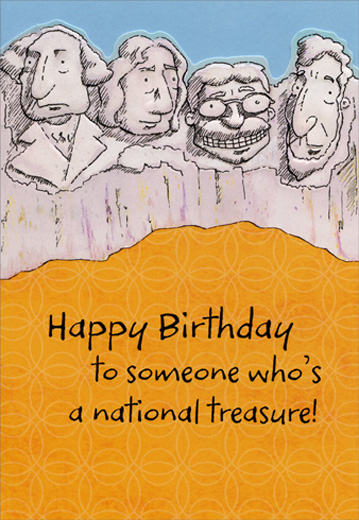 National Treasure Masculine Funny Humorous Birthday Card For Him By Hallmark
