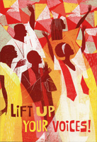 Lift Up Your Voices (16 cards/17 envelopes) Hallmark African American Christmas Card