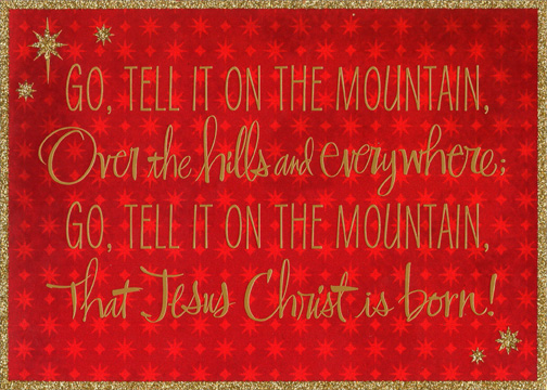 Mountain Christmas Cards.Go Tell It On The Mountain Box Of 16 Religious African