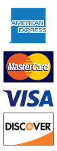 VISA, Mastercard, Discover and American Express Accepted