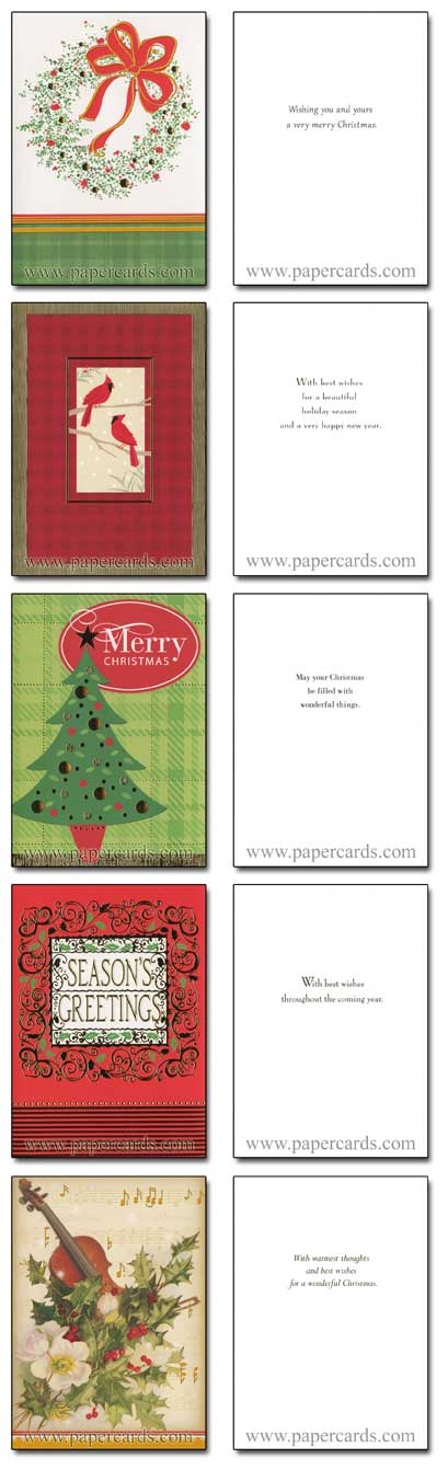 Traditional Foil Assortment (28 cards/28 envelopes) Image Arts Boxed Christmas Cards - FRONT: Various  INSIDE: Various