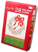 Traditional Foil Assortment (28 cards/28 envelopes) - Boxed Christmas Cards