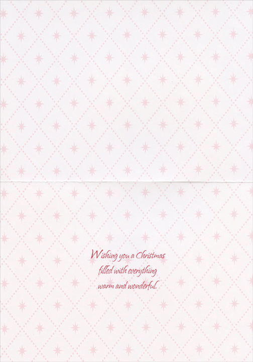 Rejoice Gift (1 card/1 envelope) - Christmas Card - FRONT: Rejoice  INSIDE: Wishing you a Christmas filled with warm and happy moments.