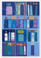 Hanukkah Candles (16 cards/16 envelopes)