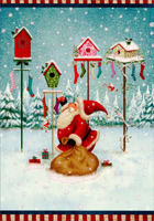 Santa, Birdhouses & Stockings (16 cards/16 envelopes) - Boxed Christmas Cards  INSIDE: Hope Christmas fills your home with everything you're hoping for� AND MORE!